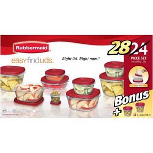 Bộ hộp nhựa đựng thực phẩm 12 hộp bonus 2 hộp Rubbermaid của Mỹ