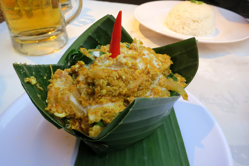 Amok in a banana leaf