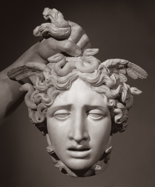 Comparison: Perseus Holding the Head of Medusa