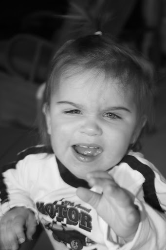You see this angry face a lot on two year olds.