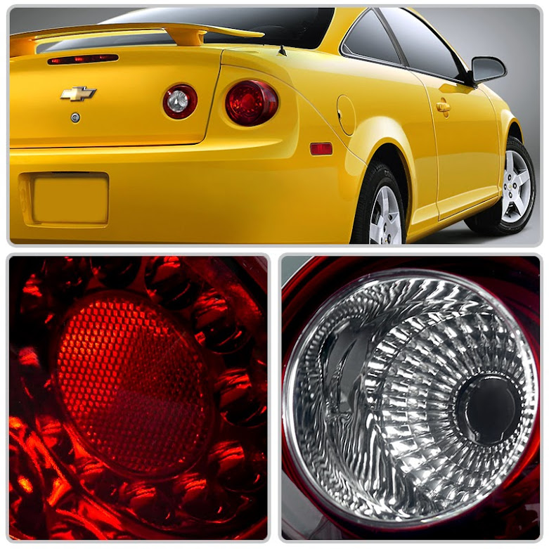 05 10 Chevy Cobalt 2dr Coupe 4pcs Led Tail Lights Red