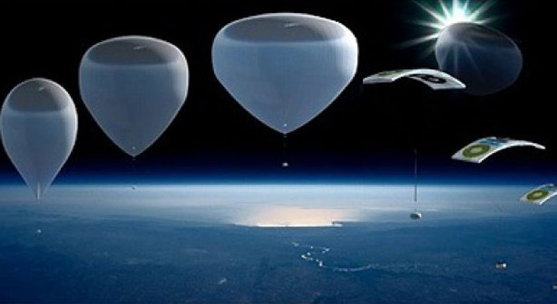 Bloon will offer a 36 kilometers altitude flight on an helium balloon with a pressurized capsule to discover the curvature of the Earth and the blackness of the sky