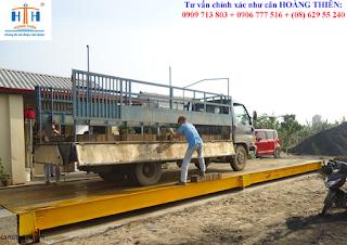 Cân xe tải 6m chính hãng ở trạm cân 100 tấn