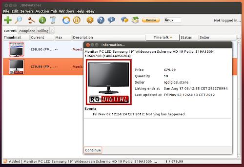 JBidwatcher 2.5 su Ubuntu