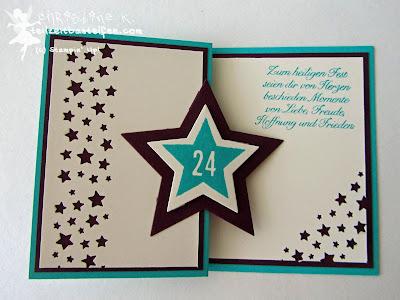 stampin up, inkspire_me #174, 24 Türchen, 25 days, confetti stars, sternenkonfetti, wunderbare weihnachtsgrüße, christmas card, weihnachtskarte