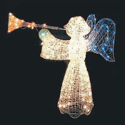 Lighted Angel 200 Lights Crystal for Outside Christmas Decorations