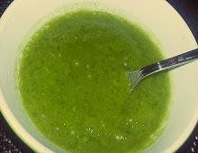 Soupe de poireaux et tapioca