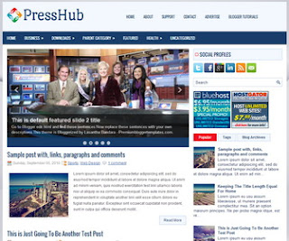 PressHub blogger template