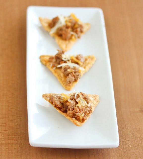 photo of three Homemade Doritos Tacos on a plate