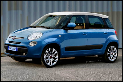 Fiat 500L artist interpretation and