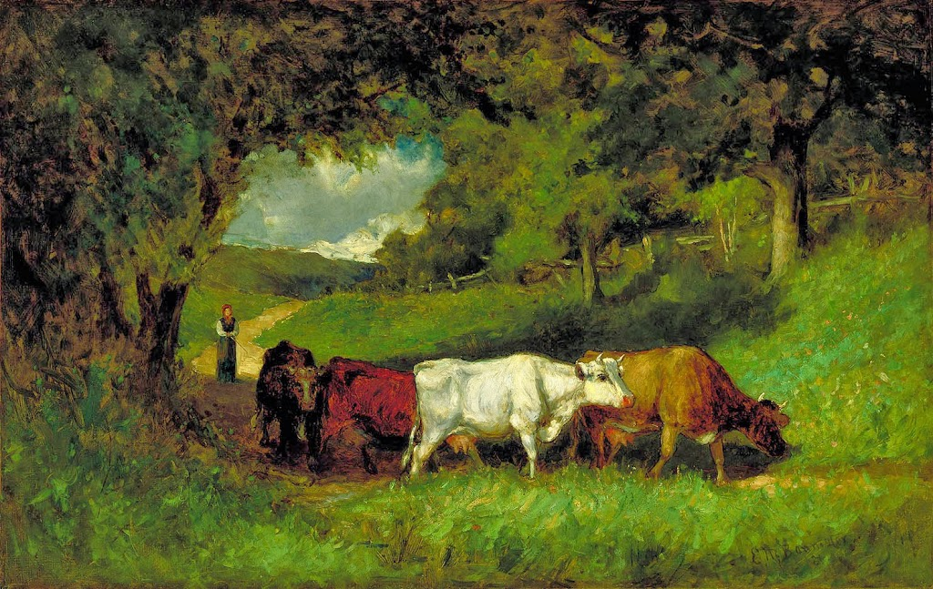 Edward Mitchell Bannister - Driving Home the Cows