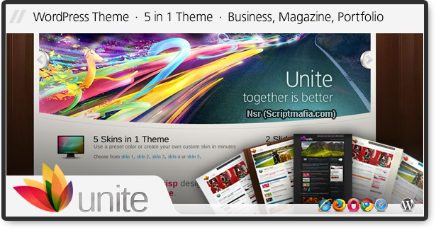 Themeforest Unite – Business, Magazine Theme WordPress + HTML Version