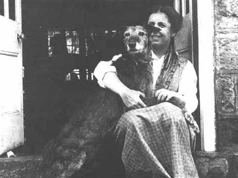 Karen Blixen and a dog