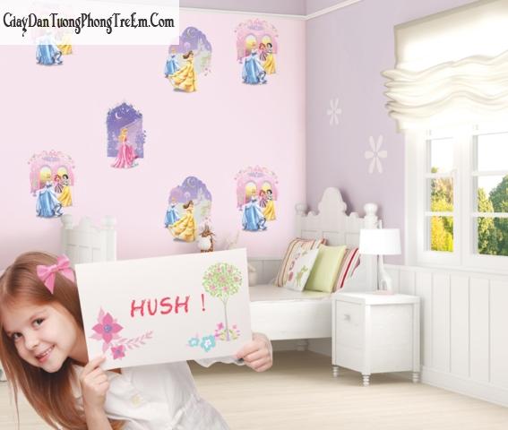 Chọn giấy dán tường cho bé gái