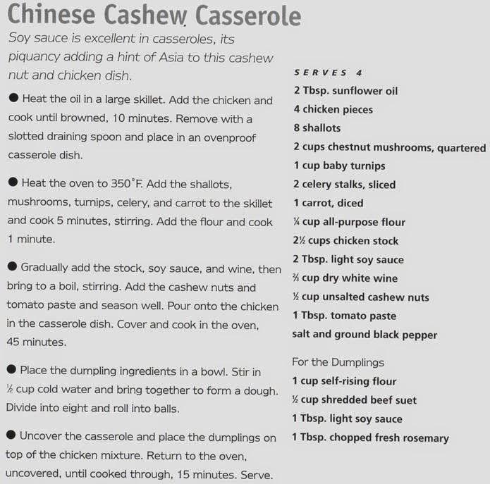 Chinese Cashew Casserole Recipe