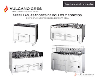 Parrillas asadores Rodicios y asadores de pollos.  www.vulcanogres.com oscar@vulcanogres.com Tel. +34 651039750