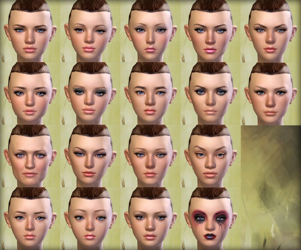 Guild Wars 2 Human Female Faces