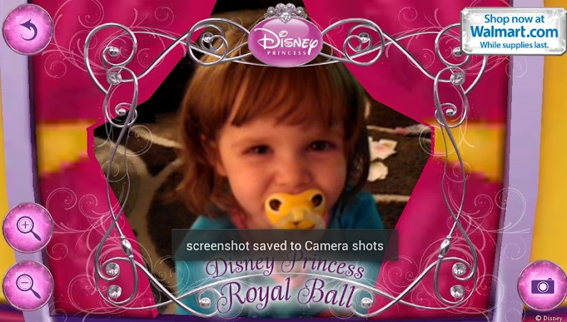 Our own little Disney Princess gets to look like one with the Royal Ball app