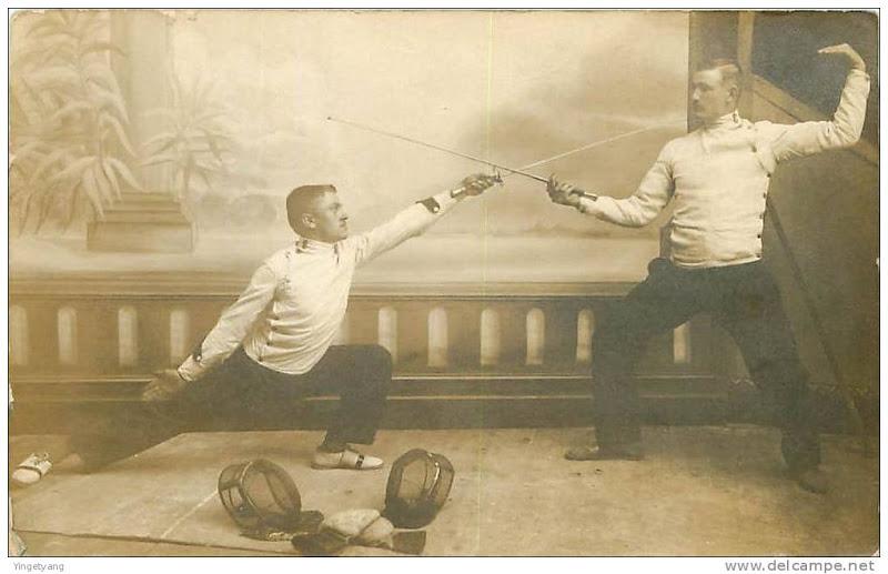 Классическое фехтование на рапирах.