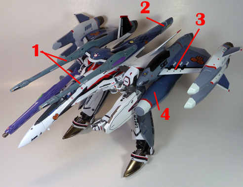 Macross Frontier VF-25F Messiah Tornado pack  Outer-Space Use Armament weapon position
