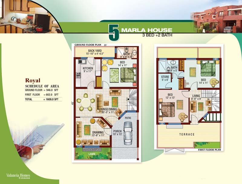 5 Marla House Map Home Design