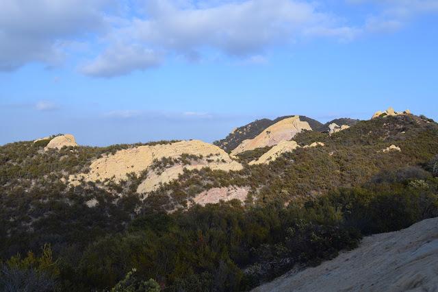 rocks along the ridge