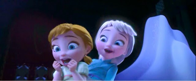 In The Deep Night Anna Called Elsa To Play With HerElsa Used Her Icy Magic Turn Ballroom Into Snow