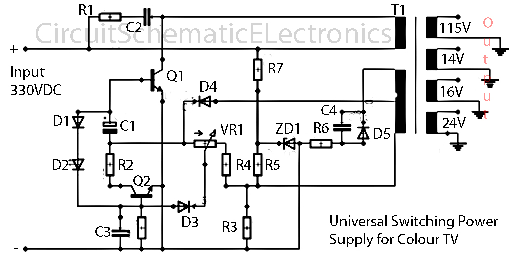 universal switching power supply for tv