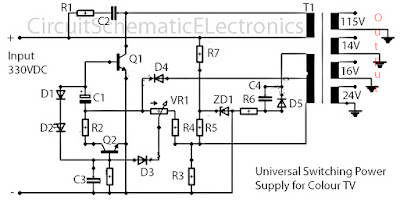 universal Switching power supply TV