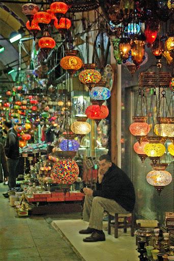 Grand Bazaar, Istanbul.  2015 Eat Smart in Turkey Culinary Tour