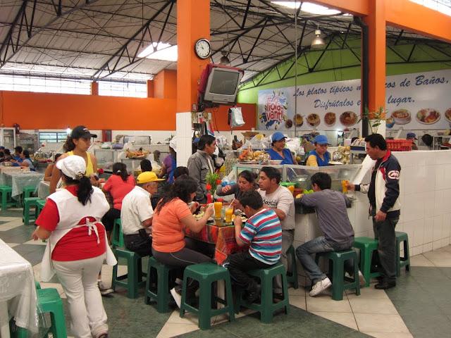 The market in Baños, Ecuador