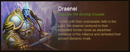 Druids Corner Wow 101 What Race Are You Draenei
