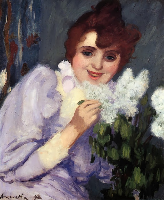 Louis Anquetin - Woman with Lilacs
