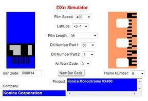 Konica VX 400 a DXn Simulator oldalán