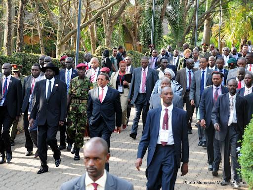 Les participants au VIIè sommet extraordinairedes chefs d'Etat de la Conférence internationale pour la région des Grands Lacs (CIRGL) à Kampala (Jeudi 5 septembre 2013)