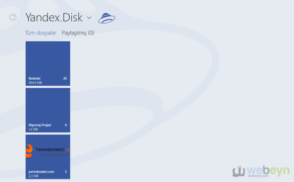Yandex.Disk - Windows 8