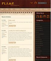 Flame - A free wordpress theme