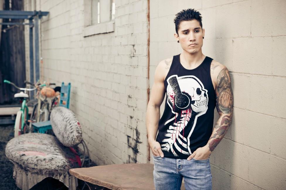 david punkrock, skull bleeding, skull headphones, skeleton headphones shirt, tattoo fashion, nerdy tattoo style, geek chic, akumuink