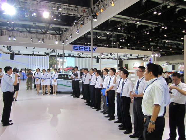 Geely employees