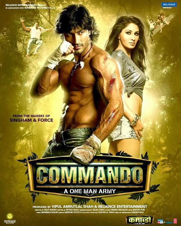 Poster Of Hindi Movie Commando (2013) Free Download Full New Hindi Movie Watch Online At alldownloads4u.com
