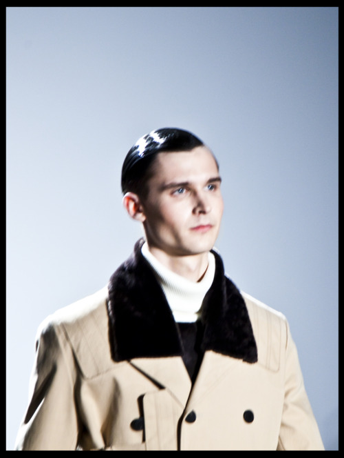 Lowell Tautchin @ Soul by Elle Muliarchyk @ Tim Coppens F/W 2012 at NYFW, February 2012.