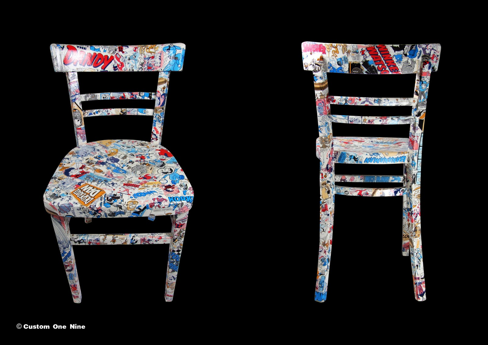 CO9: Retro Comic Book Chairs by JumpSquare