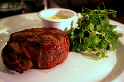 Fillet steak at the Northall Restaurant in the Corinthia Hotel in London England