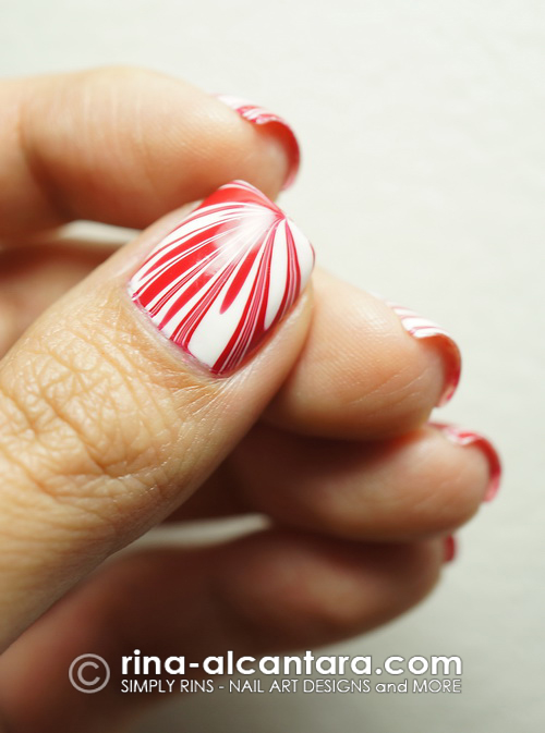 Red Splatter Nail Art Design