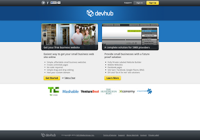 devhub.com free online website builders