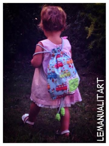 costura creativa: mochila para niños hand made