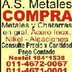 as asmetales Autor de Compra venta de Chatarra, acero inoxidable, bronce