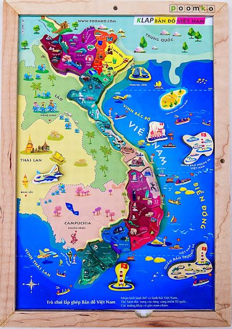 Klap Lắp ghép bản đồ Việt Nam V02 giúp trẻ am hiểu hơn về lãnh thổ