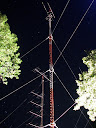 Microwave & 50 MHz towers @ night