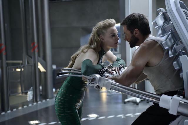 The Wolverine Viper Svetlana Khodchenko & a powerless Logan Hugh Jackman